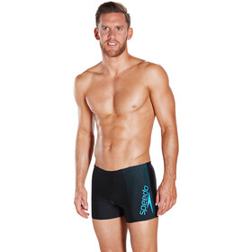 speedo Gala Logo Aquashorts Men Black/Neon Blue